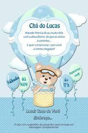 Resultado De Imagem Para Convite Chá De Bebe Urso Baloeiro