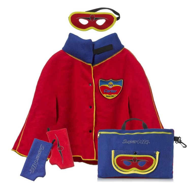 Classic Pillow Cape - Superhero gifts for boys This 2- in-1 combines down time and play time in the best possible way. The soft and snuggly fleece pillow magically and easily transforms into a warm hero cape - Simply unzip the pocket and pull out the reversible cape, wrap around the shoulders and secure snaps and top velcro tab.  Cushioned collar for added comfort. inclueded in the set are comfy hand warmers and a hero