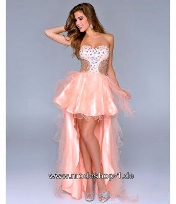 Kleid hinten kurz vorne lang