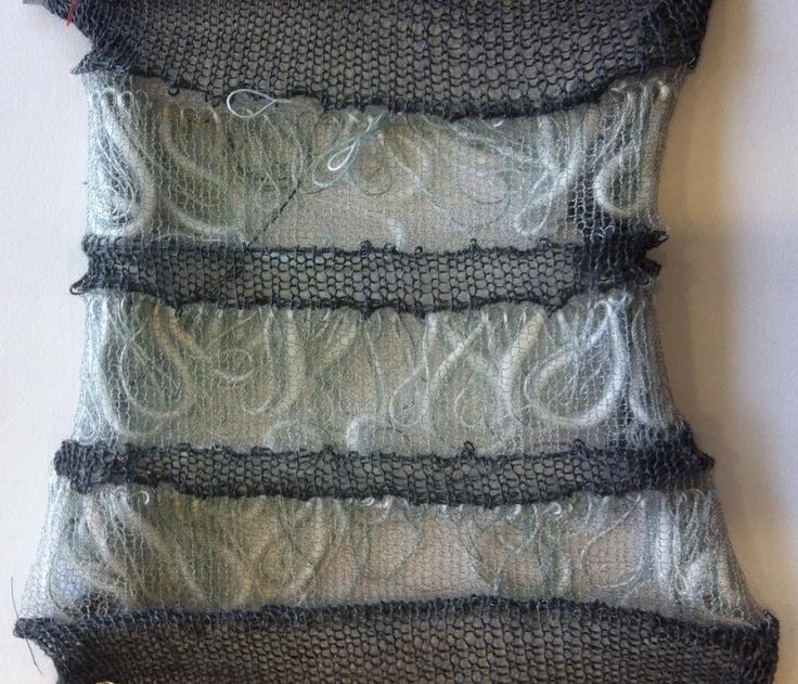interesting knit swatch