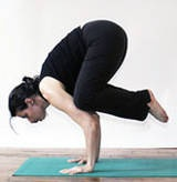 """Crow Pose"" a.k.a impossible to achieve pose, this is my next goal since I have mastered the full back bend."