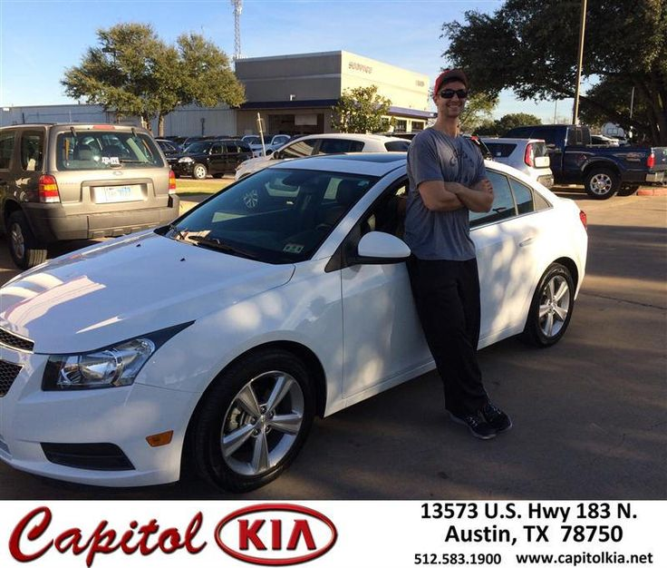 Congratulations to Garrett Klaproth on your #Chevrolet #Cruze purchase from Brian Dean at Capitol Kia! #NewCar