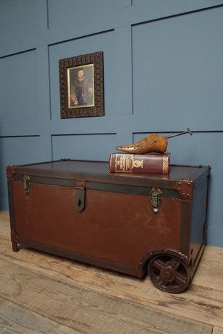 Iron Trunk Coffee Table | vincentandbarn.co.uk | Vintage Industrial Furniture | Trend | Warehouse Home Design Magazine