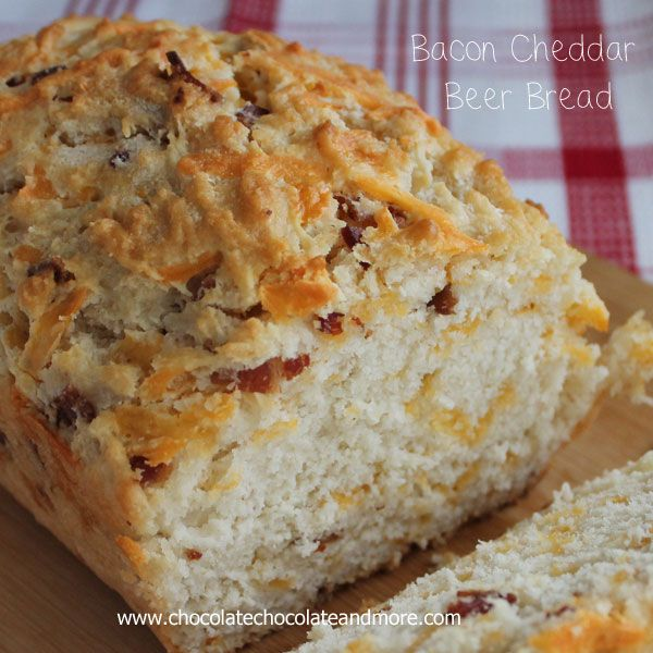 Bacon Cheddar Beer Bread - Chocolate Chocolate and More!