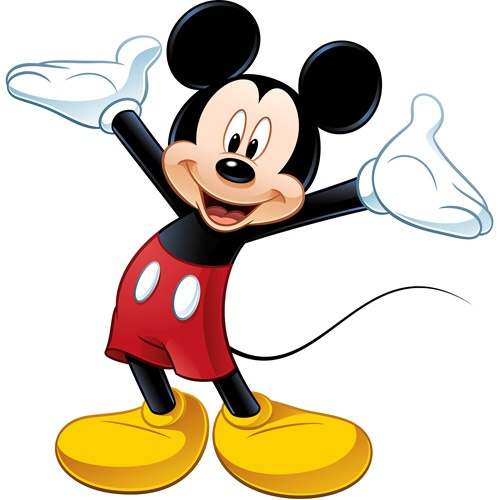 Mickey Mouse Peel & Stick Giant Wall Decal. This would be great in the boys Mickey themed bathroom.