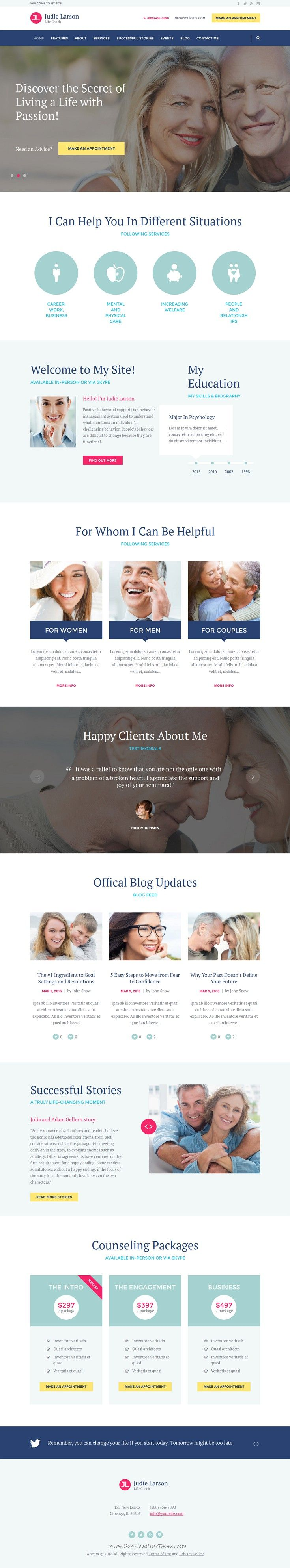 B+B: Again, not our favorite look. But we do like the icons and the 'happy clients about me' sections!