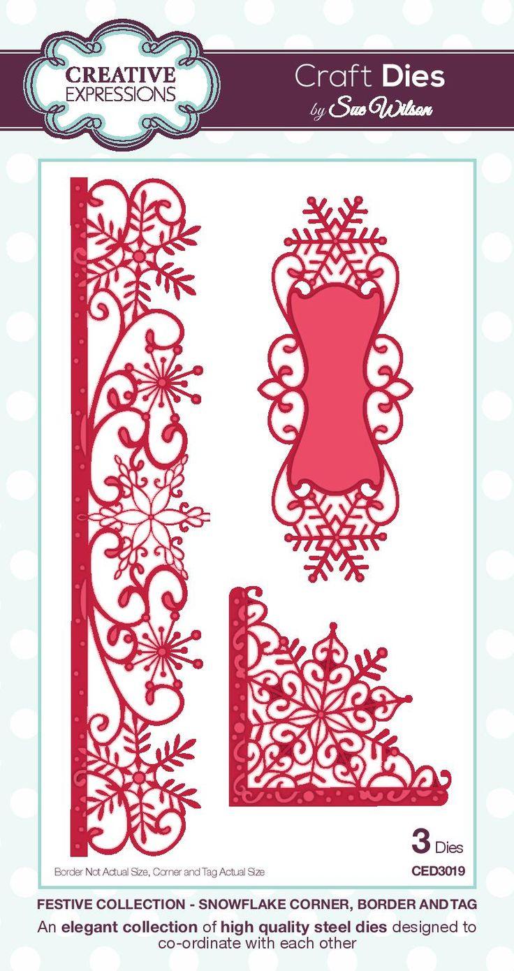 PartiCraft (Participate In Craft): Christmas 2015 Die Blog Launch --Snowflake Border, Corner, Tag Die set