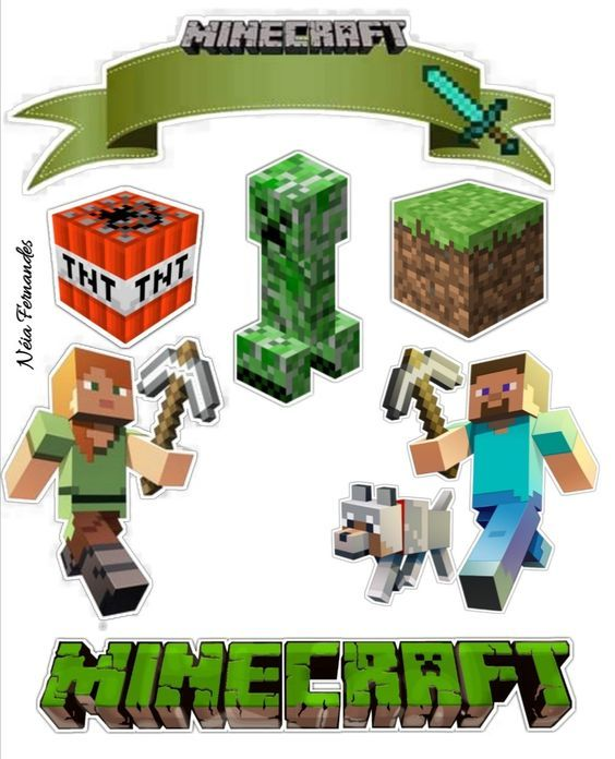 Topo Minecraft Cake Toppers T Minecraft Clipart Minecraft