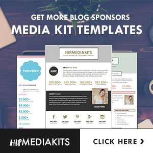 Looking for a good blog design template? This media kit template is perfect for…