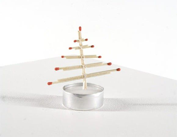DIY Tea Light Christmas Tree: Diy Matchstick, Lights Christmas, Diy Christmas Trees, Teas Lights, Christmas Decor, Dreams Cars, 6 Christmas Tre, Vintage Carnival, Diy Teas