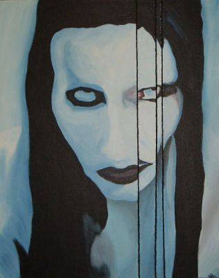 Famous Musicians' Fascinating Self-Portraits  Marilyn Manson