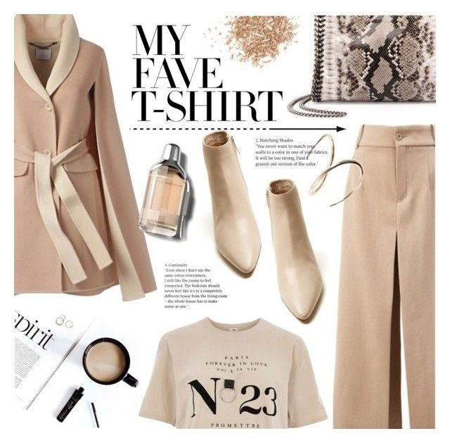 """""""Flesh-color"""" by edita1 ❤ liked on Polyvore featuring Chloé, STELLA McCARTNEY, River Island, The Row, Topshop, Charlotte Chesnais, Burberry and MyFaveTshirt"""