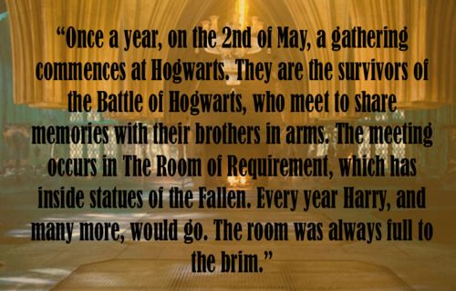 Battle of Hogwarts remembrance day - headcanonsforpotterheads  @Elizabeth Just @Abigail Werth @kristina randelzhofer and all the other potter fans.