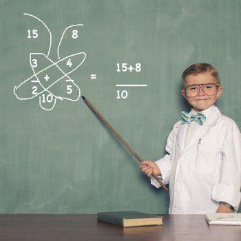 El truco de la mariposa para enseñar a sumar fracciones a los niños.