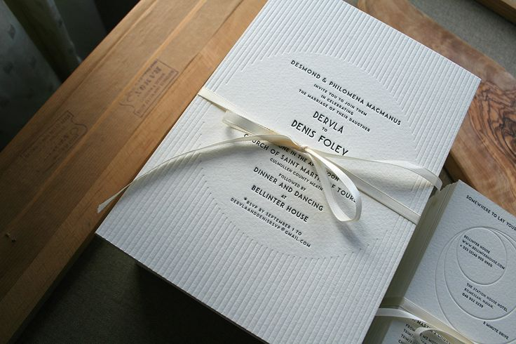 Letterpress wedding invitations, blind emboss, deco, printed by #stoneberrypress http://stoneberrypress.co.uk
