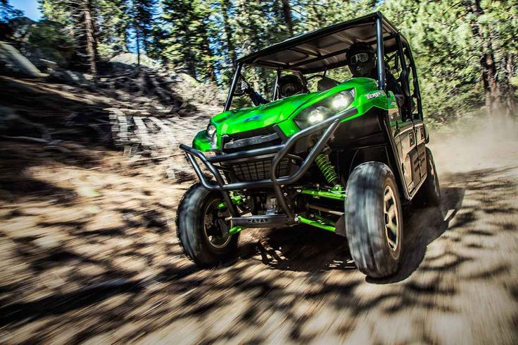 """New 2017 Kawasaki Teryx4â""""¢ LE ATVs For Sale in Ohio. The Kawasaki Difference: Kawasaki Strong Eager for action, the Kawasaki Teryx4â""""¢ Side x Side is built to dominate the most demanding trails. With the perfect combination of rugged sport performance and useful capability, the Teryx4 is up for a variety of challenges. Backed by the strength of Kawasaki Heavy Industries, Ltd. the Teryx4 is a versatile Side x Side that you can depend on. Aggressive front end styling Optimized settings for…"""