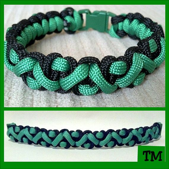 St Patricks Day Paracord Bracelet by ThrowinWristicuffs on Etsy, $9.00
