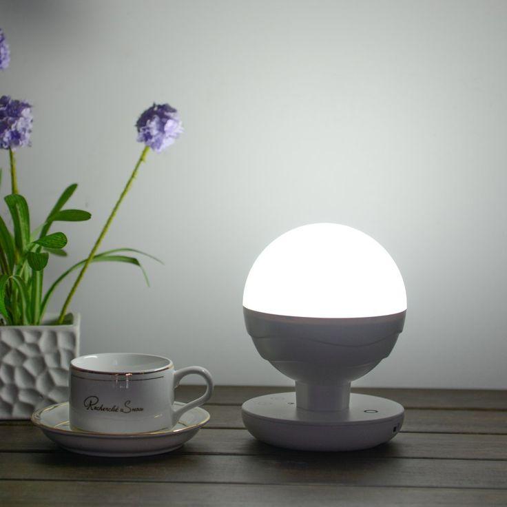 Annt® LED táctil inteligente, Lámpara recargable portátil, Lámpara multifuncional móvil Luz, Alta capacidad de la batería de litio 2200mAh, Lámpara de la noche por interior y exterior, Blanco: Amazon.es: Iluminación