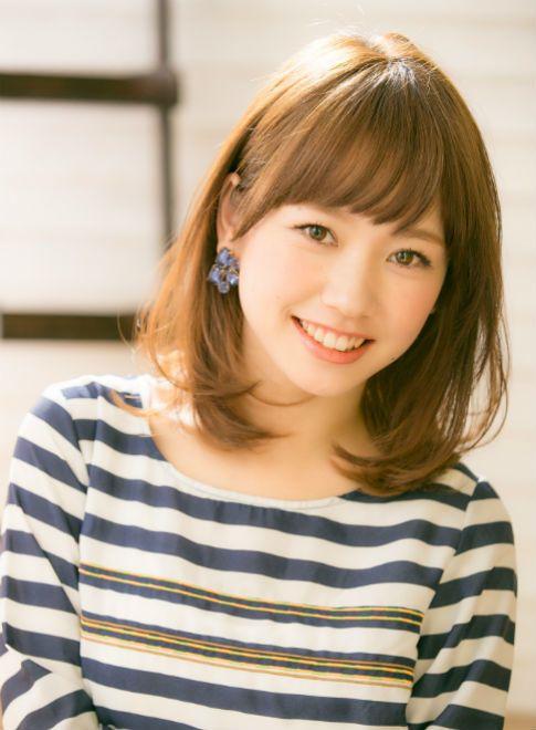 大人かわいい耳かけふわミディ 【drive for garden】 http://beautynavi.woman.excite.co.jp/salon/21107?pint ≪medium・hairstyle・ミディアム・ヘアスタイル・髪形・髪型≫