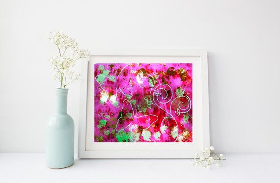 Pink butterflies art print 8 x 10 wall art for home by StarrJoy16