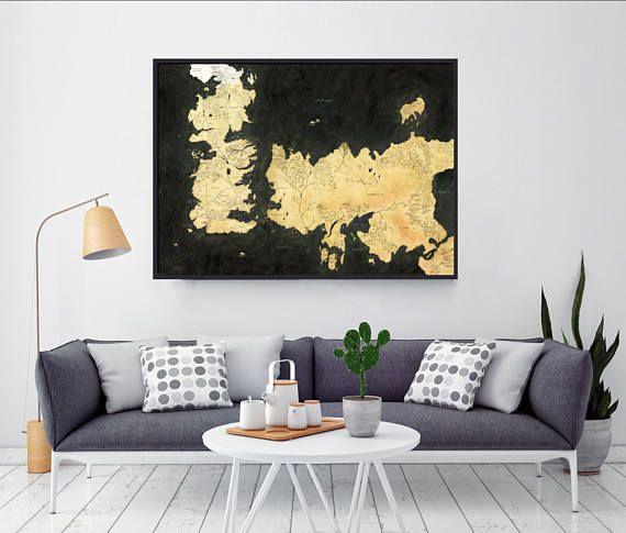 Home Decor Westeros Map Map Of Essos Game Of Thrones Game