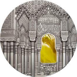 Zdobycie Alhambry w 1492 roku przypieczętowało koniec panowania muzułmańskiego na Półwyspie Pirenejskim. Zjawiskowy zespół pałacowy z Grenady, będący kwintesencją bogactwa i przepychu świata arabskiego, został przedstawiony na srebrnej monecie o wadze aż jednego kilograma. Skarbnica Narodowa