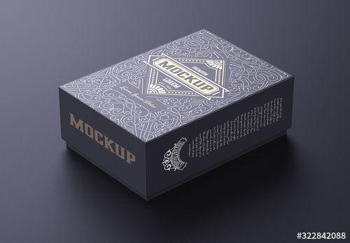 Download Small Cardboard Box Mockup Box Mockup Luxury Box Packaging Cardboard Box