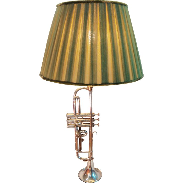 Table Lamp made with an Antique French Trumpet C. 1900