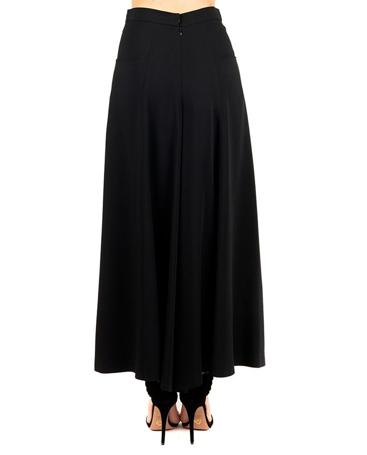 ANTONIO MARRAS Black pantskirt high waist  wide legs two side pockets back zipper closure 96% VI 4% EA