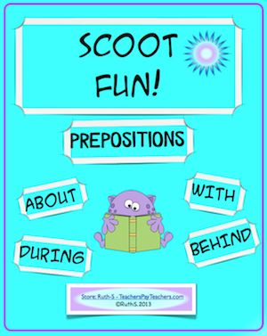 Scoot PREPOSITIONS! A fun, popular fast paced game to get kids out of their seats. Perfect assessment tool! priced item