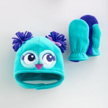 Jumping Beans Owl Fleece Hat & Mittens Set - Toddler