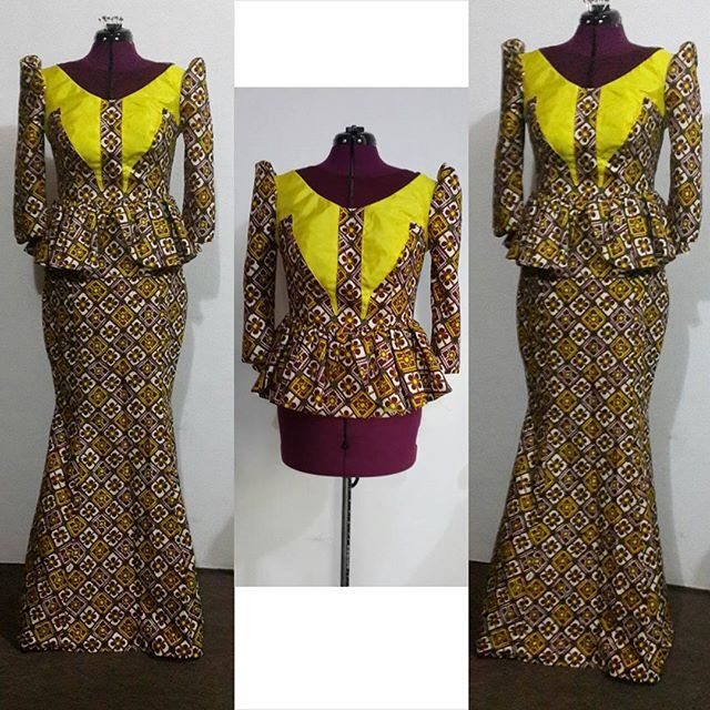 Ankara Blouse And Skirt 108