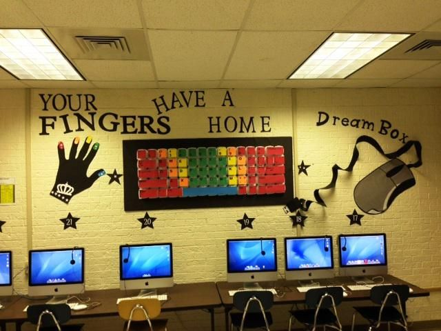 Your Fingers Have A Home! | Technology B2S Bulletin Board