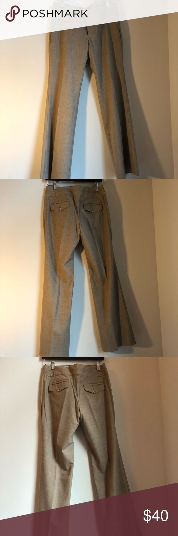Banana Republic suit trousers in brown plaid Banana Republic suit separates trousers in brown plaid, size 8. Stretch suiting material with a straight leg. Worn once. Banana Republic Pants Trousers