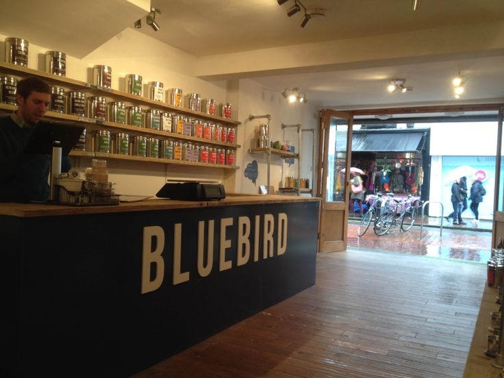 Bluebird Tea Company - The Tea Wall at our flagship store in Brighton's North Laines!
