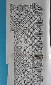 Resultado de imagen de chal de bolillos patrones