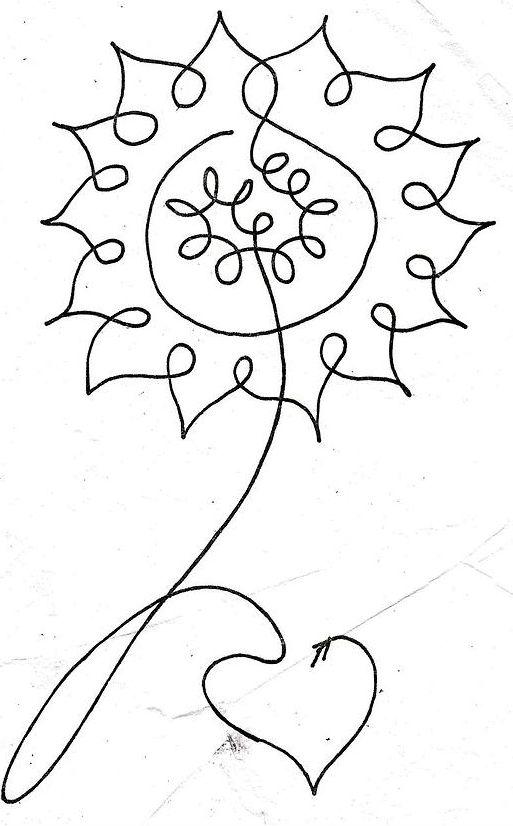 květina - jedním tahem