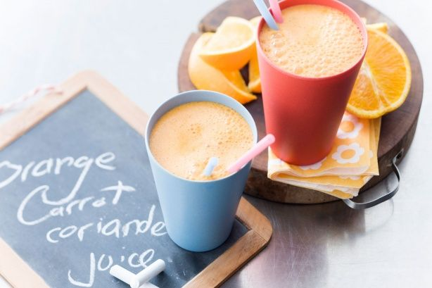 This refreshing orange, carrot and coriander juice recipe is brought to you by taste.com.au and Breville.