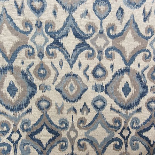 office chair upholstery fabric. this is a blue and gray woven ikat design upholstery fabric by richloom platinum fabrics office chair