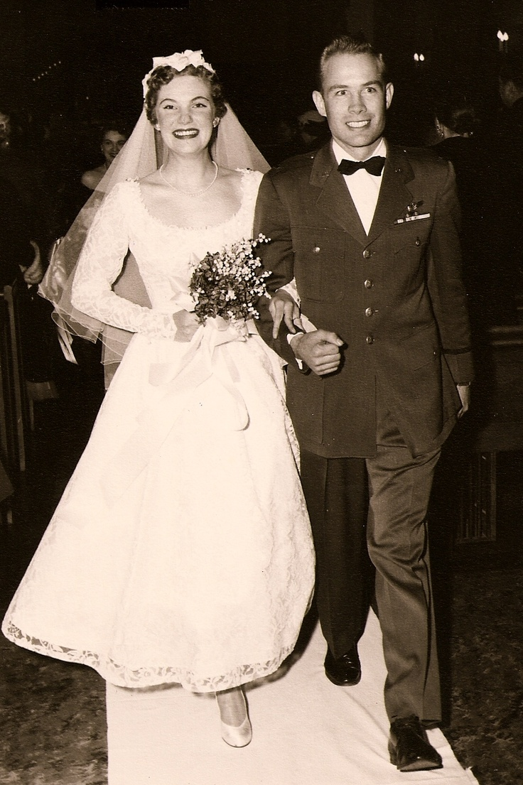 1955.  so cute. I love old wedding photos.