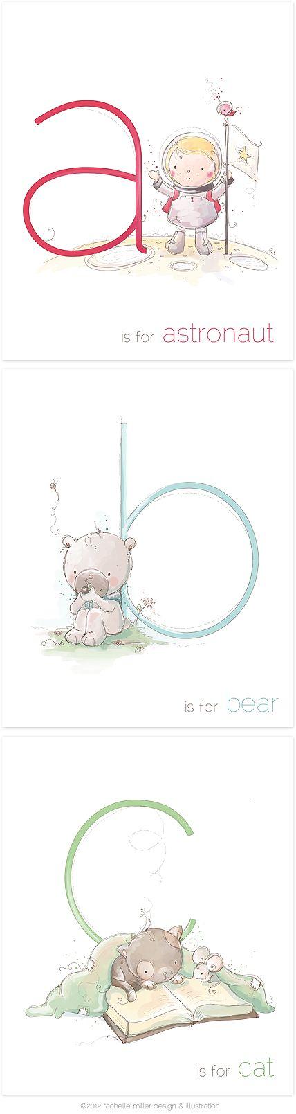 Alphabet Prints for Kids by Rachelle Anne Miller