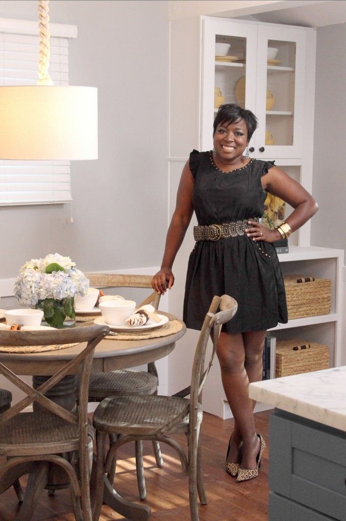 HGTV 'Design Star' Tiffany Brooks talks design ideas to battle hoarding.  Find this Pin and more on African-American Interior ...