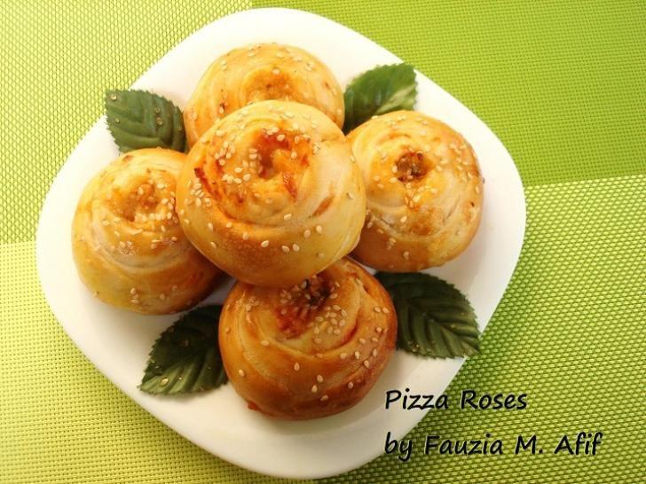 Pizza Roses | Fauzias Kitchen Fun