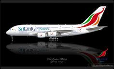 https://flic.kr/p/qu7ita | SriLankan Airlines Livery concept | SriLankan Airlines / Airbus A380 / Livery concept