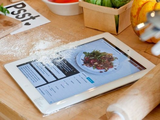 iPad protector for when you use the iPad as a cookbook