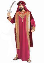 Orientalischer Scheich Kostüm gold-rot