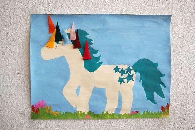 Homemade pin the horn on the unicorn - love it :)
