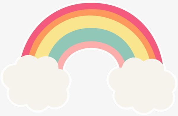 Cute Rainbow Png Cartoon Cartoon Rainbow Clouds Cute Cute Clipart Rainbow Png Rainbow Art Hello Kitty Art