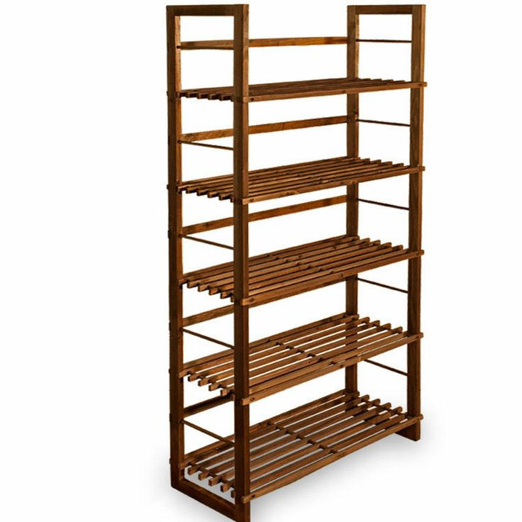 Tall bookcase wooden bookshelf wide 5 shelves shelving storage unit ...