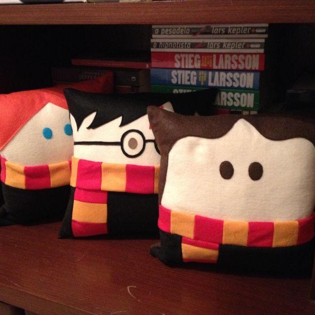 Almofada - Harry Potter, Rony e Hermione